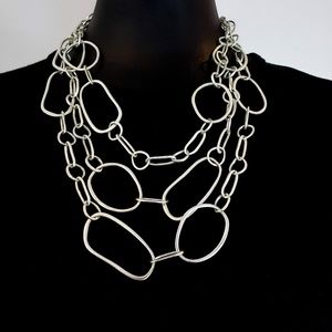 White House Black Market Necklace Open Link Chunky